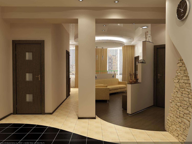 Гостиная совмещенная с коридором фото